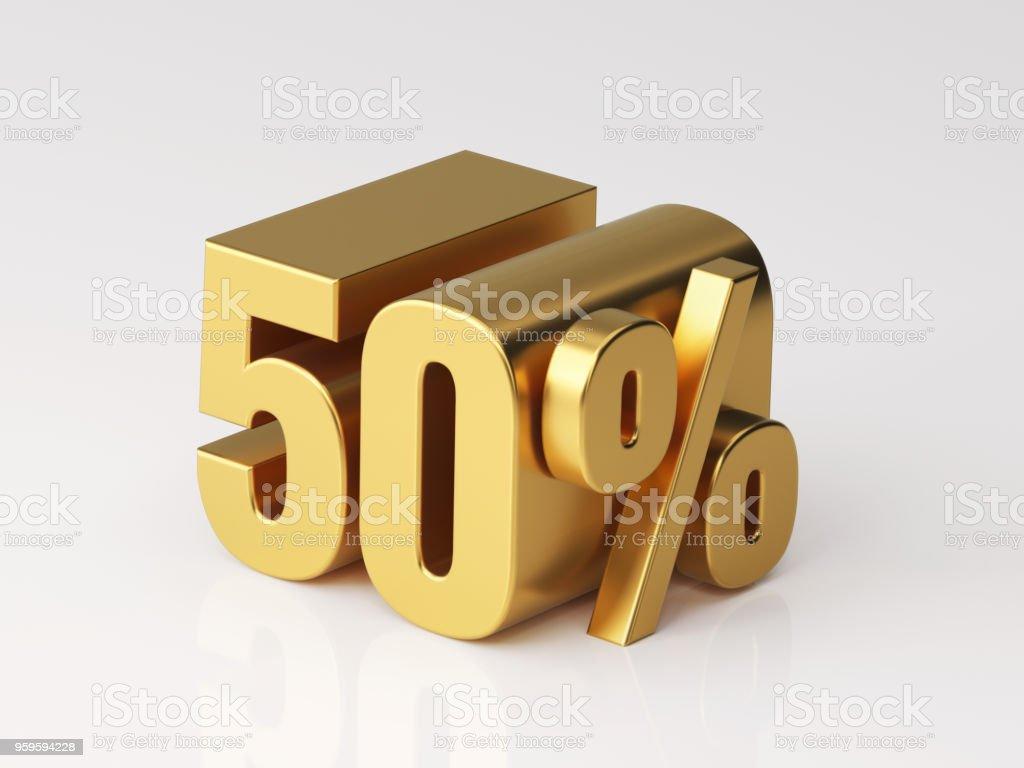 Fifty Percent Off Discount Symbol stock photo