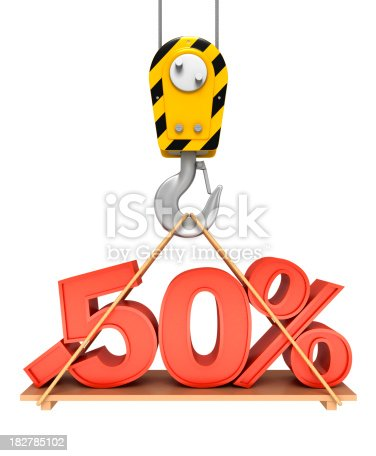 istock Fifty Percent On Crane Hook 182785102