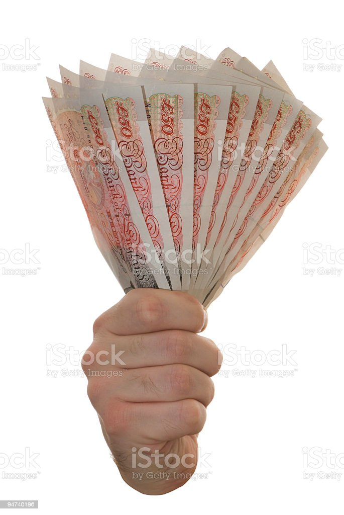Fifty pound notes royalty-free stock photo