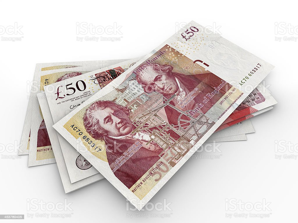 Billets de 50 livres sterling - Photo