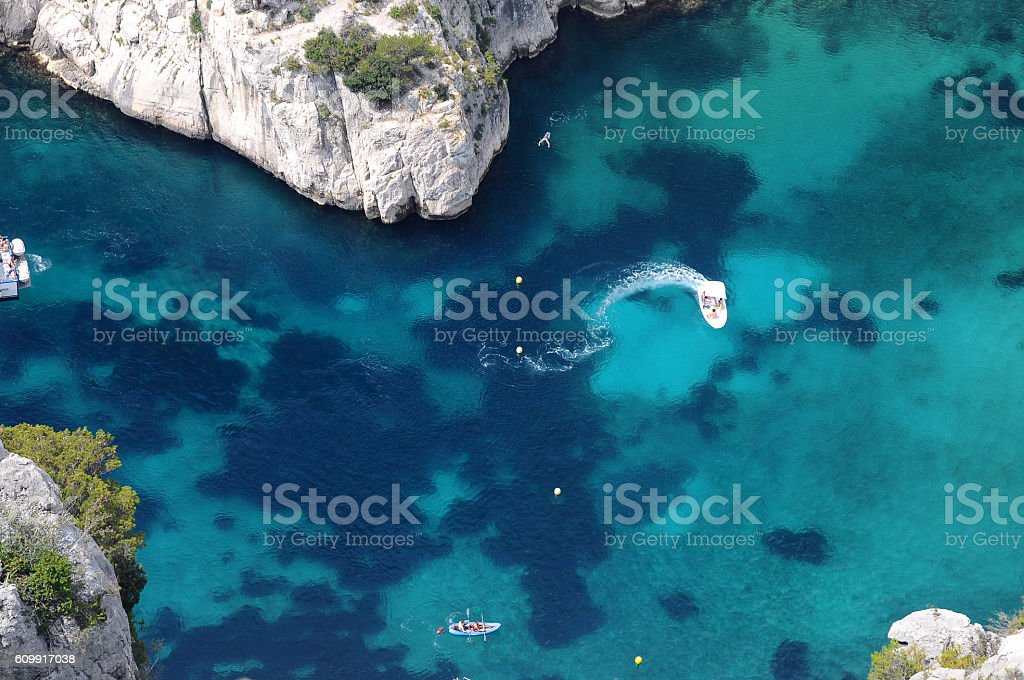 Fifty shades of blue stock photo