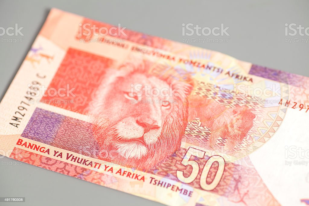 Fifty South African Rand stock photo