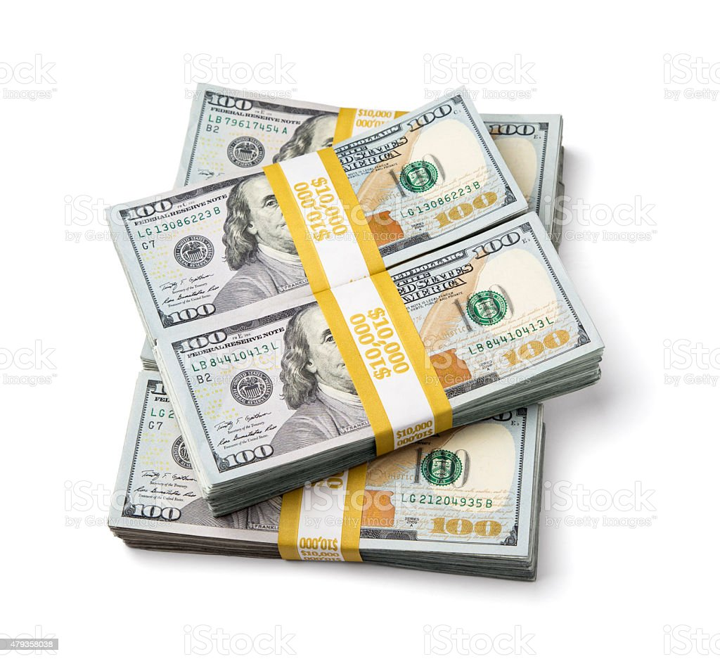 Fifty Thousand US Dollars stock photo