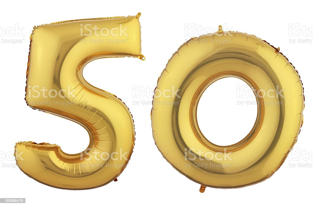 fifty Today royalty-free stock photo