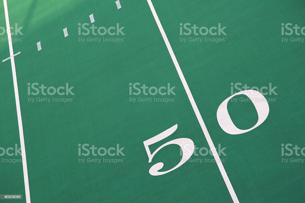 Fifty Yard Marker 2 royalty-free stock photo