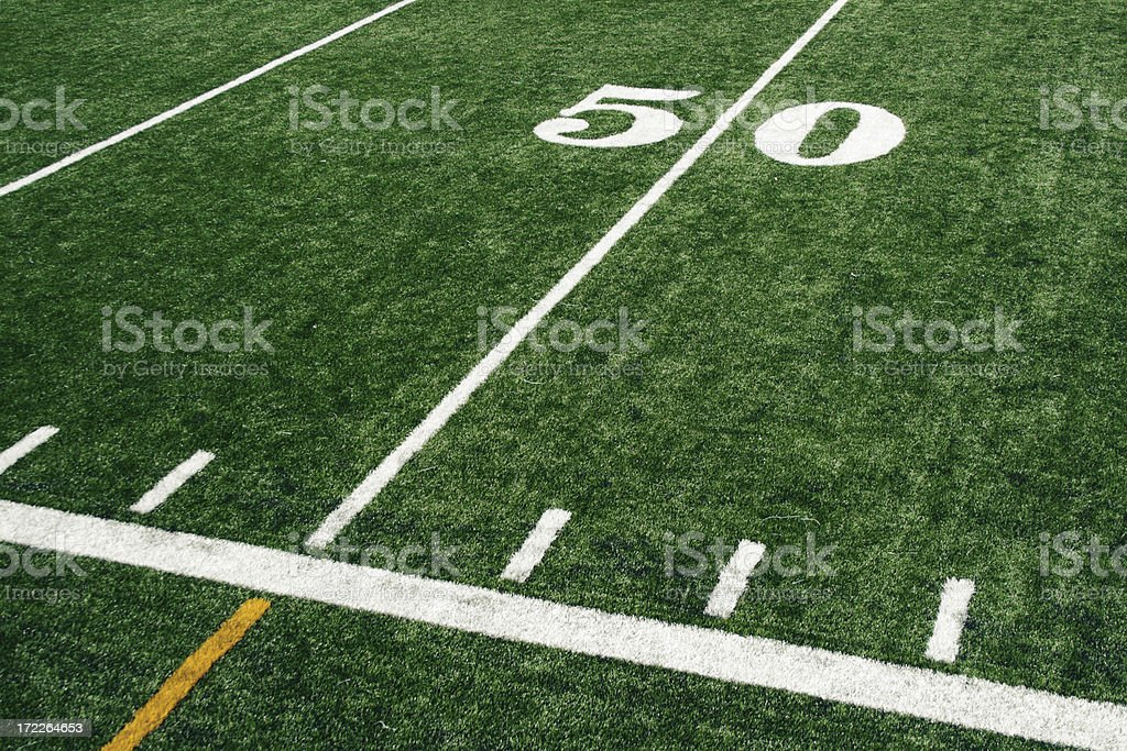 Fifty yards royalty-free stock photo