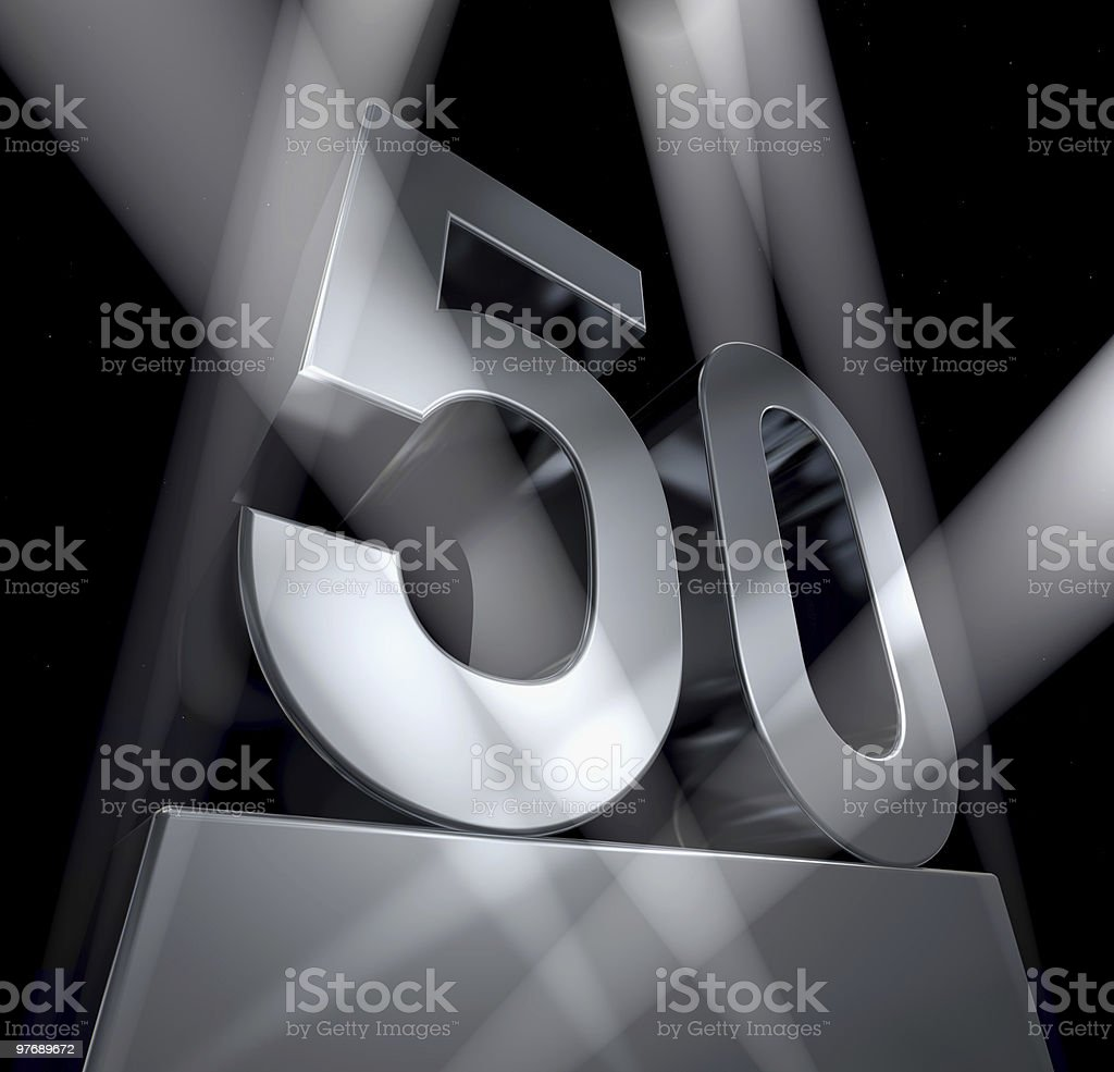 fifty year celebration monument 50 royalty-free stock photo