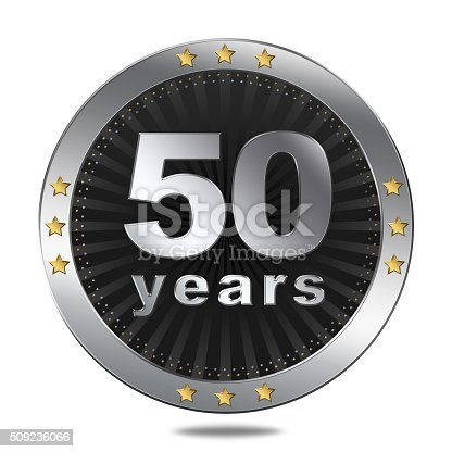 istock Fifty years button 509236066