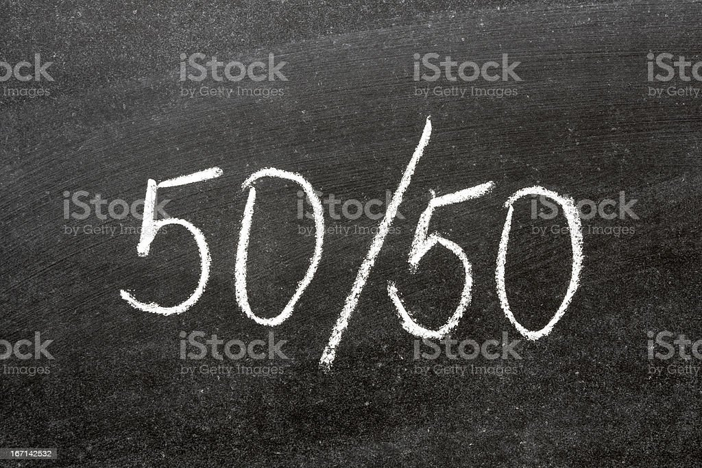 fifty-fifty stock photo