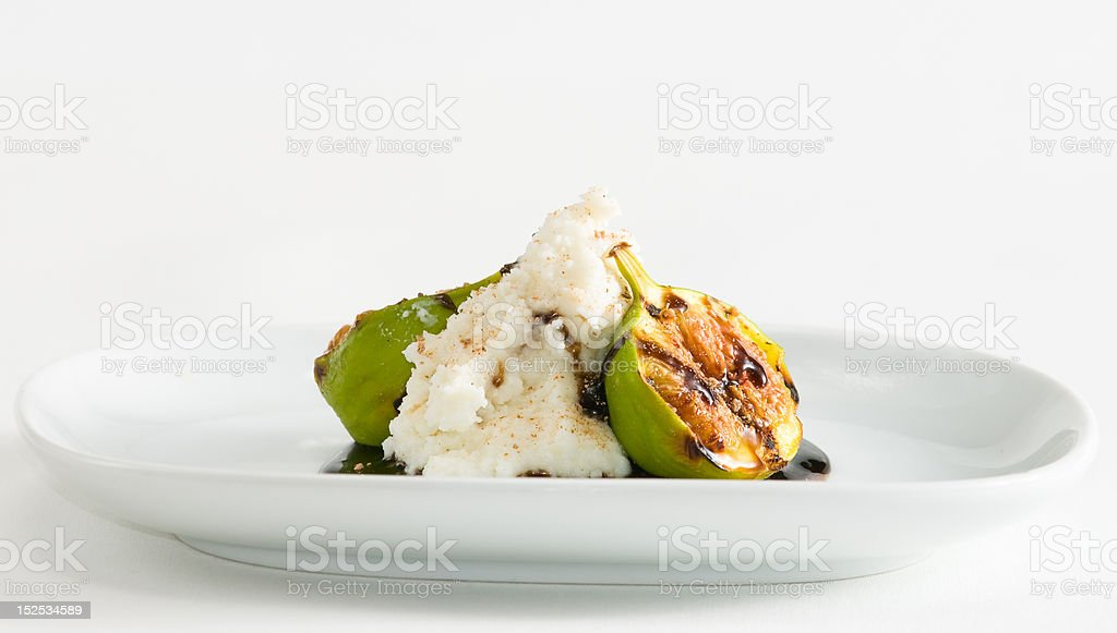 Fig and cheese appetizer royalty-free stock photo