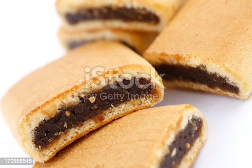 Close up of fig bars.
