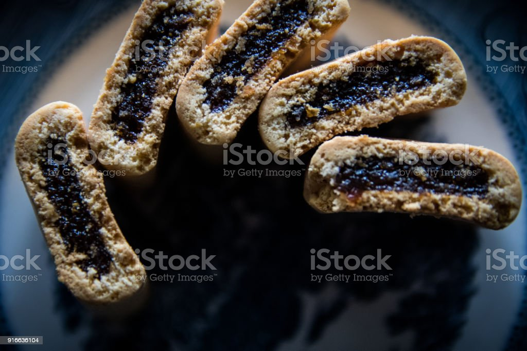 Fig bars stock photo