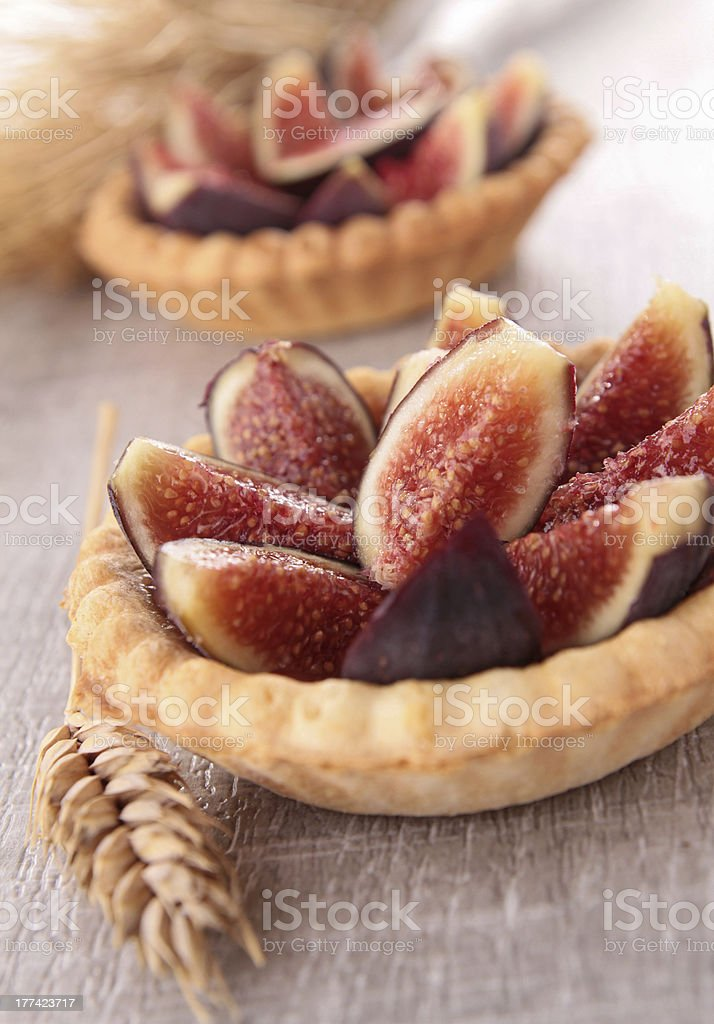 fig dessert stock photo