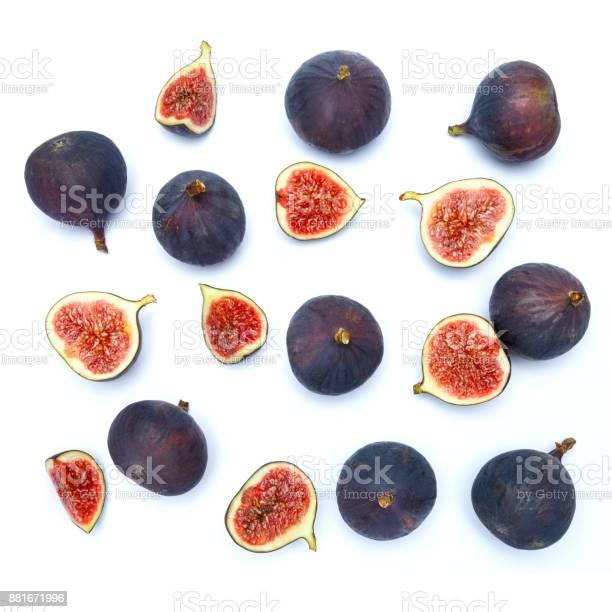 Fresh Organic Fig isolated on white background