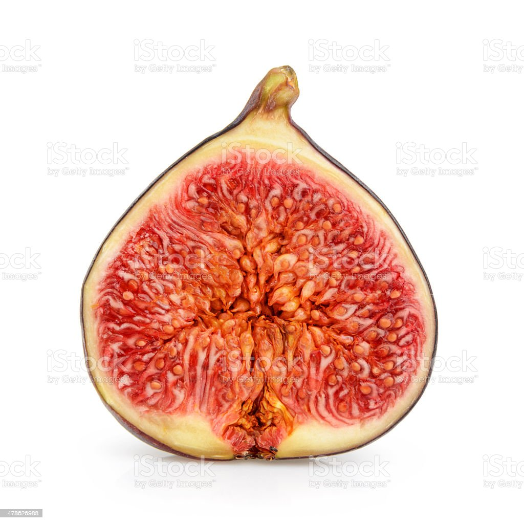 fig isolated on white stock photo