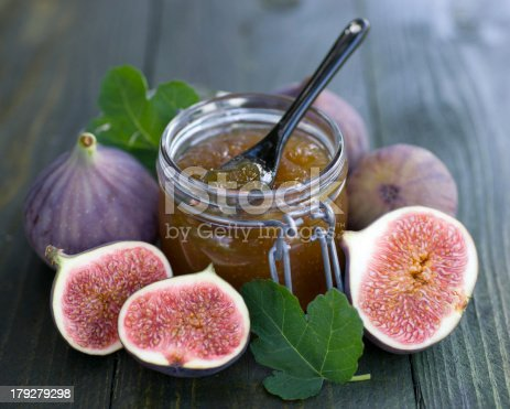 Fig jam in a preserving glass