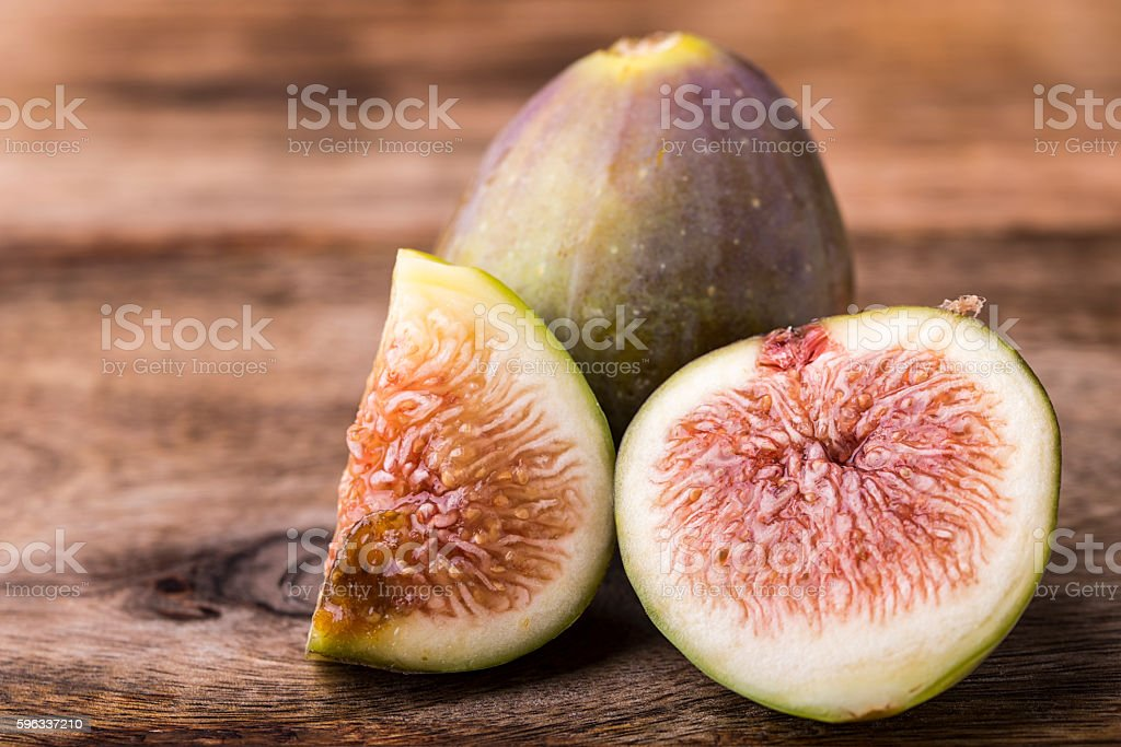 fig on wood royalty-free stock photo