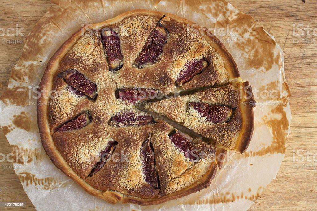 Fig pie stock photo