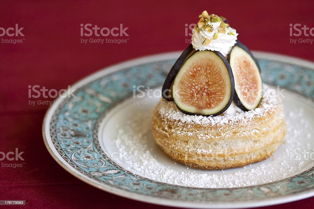 Fig Puff Pastry royalty-free stock photo