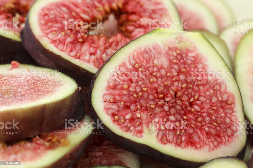 Fig slices stock photo