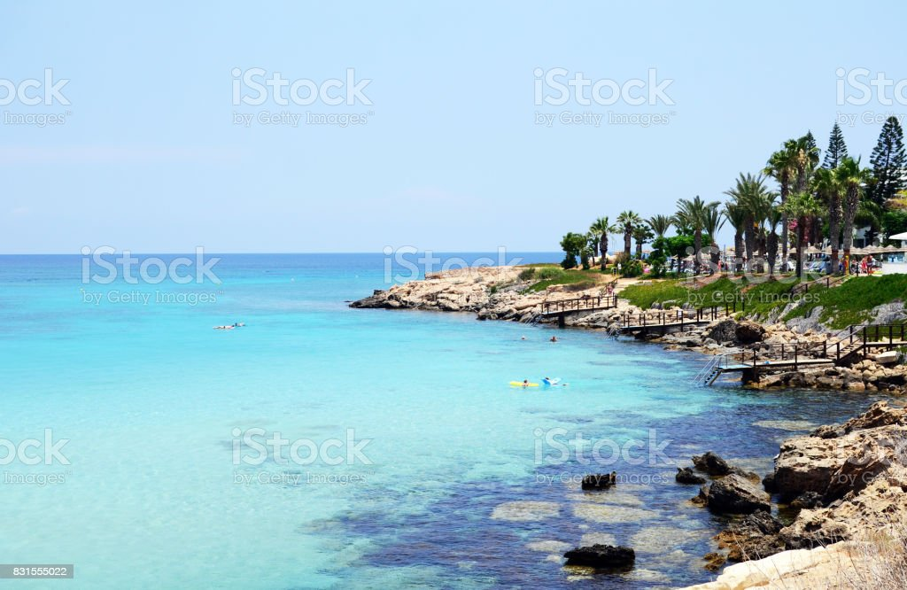 Fig tree bay beach, Protaras, Cyprus stock photo