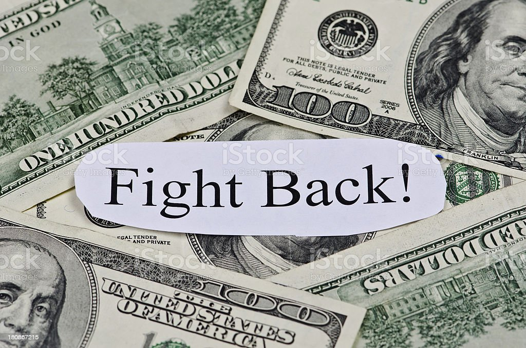 Fight Back royalty-free stock photo
