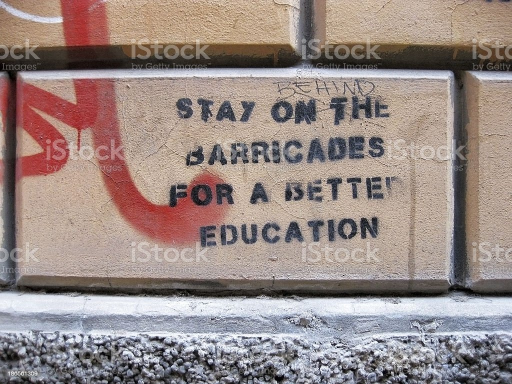 Fight for Education royalty-free stock photo