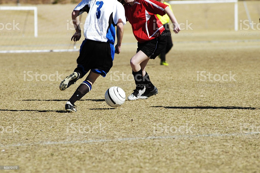 Fight for the ball 1 royalty-free stock photo