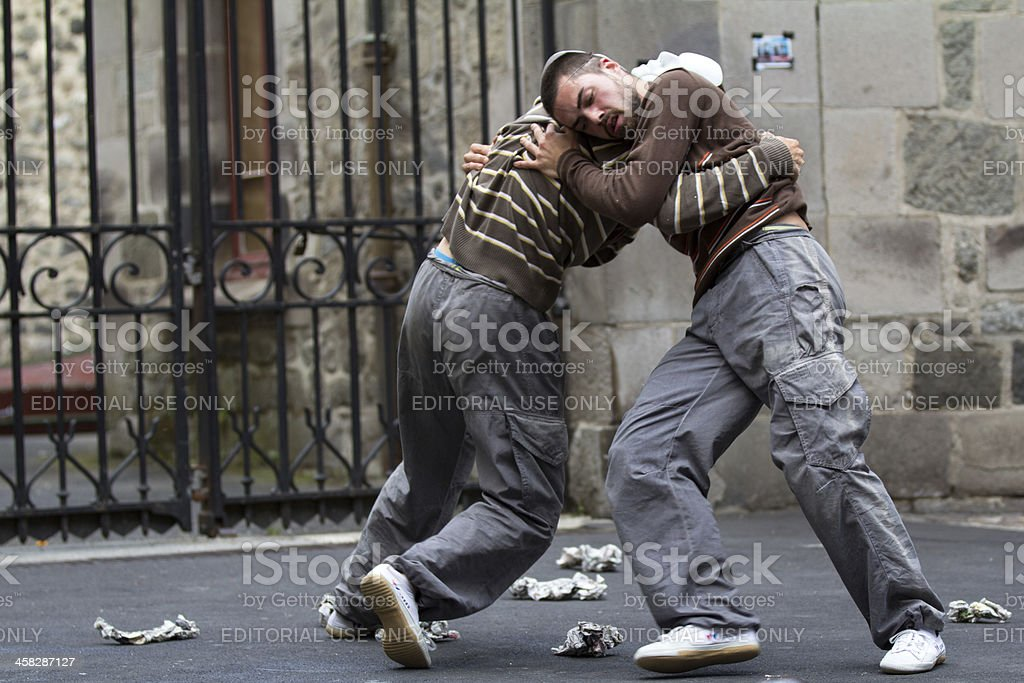 Fight in the street. royalty-free stock photo