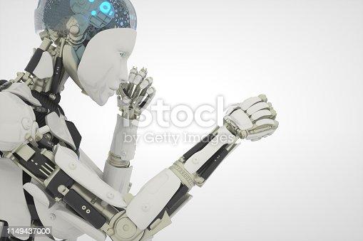 1050855372 istock photo fight robot on white 1149437000