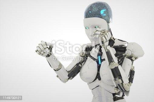 1050855372 istock photo fight robot on white 1149730121