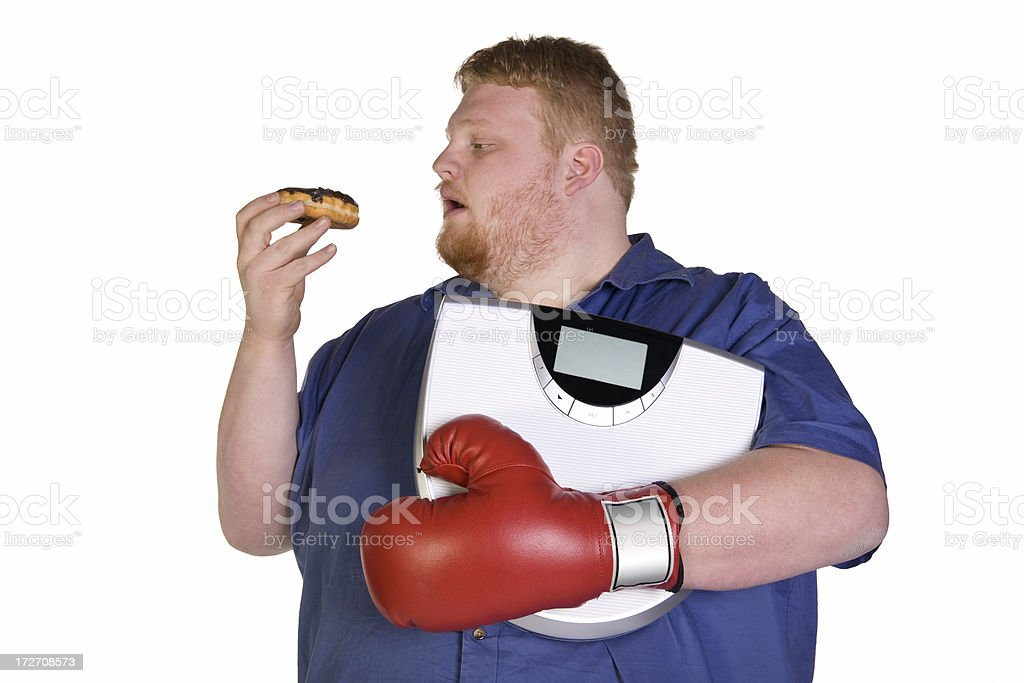 Fight the Diet royalty-free stock photo