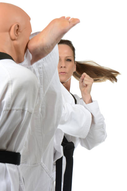 fight training - martial arts gerville stock photos and pictures