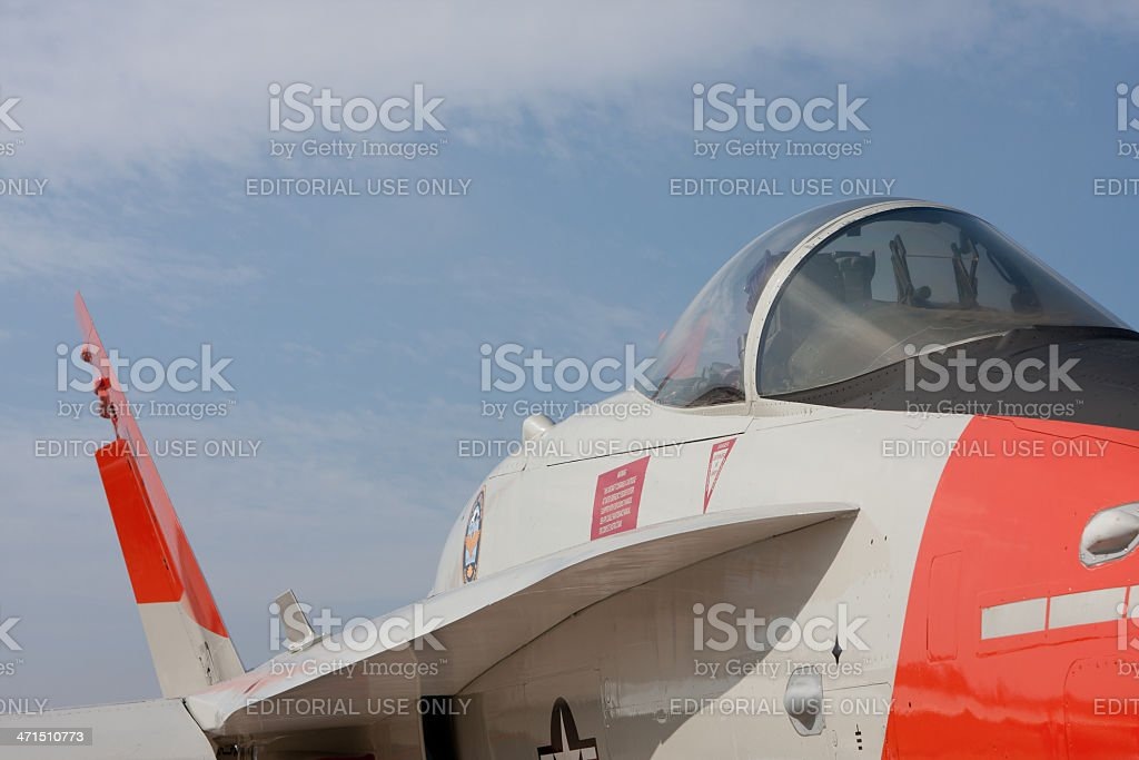 Fighter Cockpit stock photo