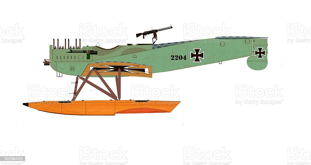 Fighter Hydroplane stock photo