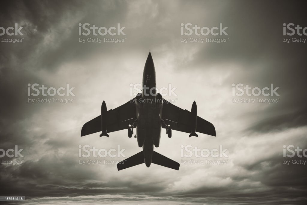 Fighter in the Sky stock photo