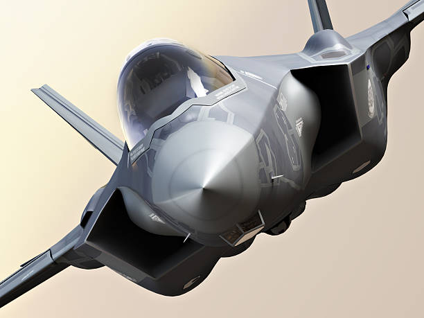 F35 Fighter jet close up F35 Fighter jet close up, photo realistic 3d rendering advanced tactical fighter stock pictures, royalty-free photos & images