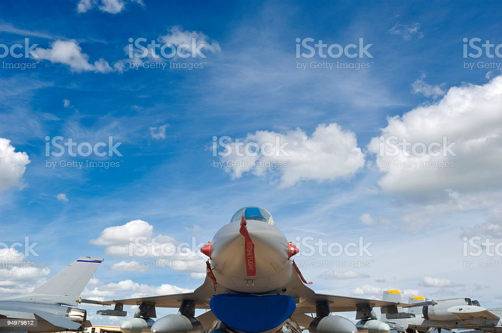 Fighter jet cloudscape royalty-free stock photo