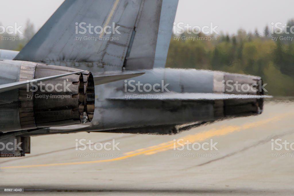 Fighter Jet Exhaust stock photo