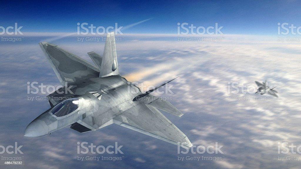 Caccia Jet in atmosfera - foto stock