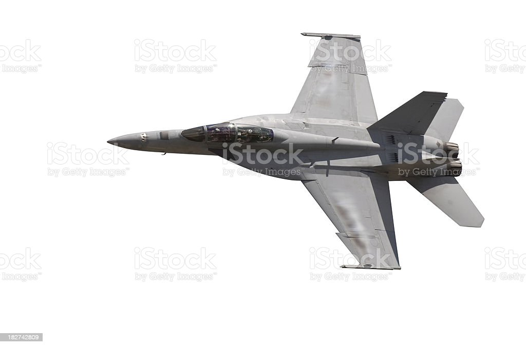 F-18 Fighter Jet Isolate on White royalty-free stock photo