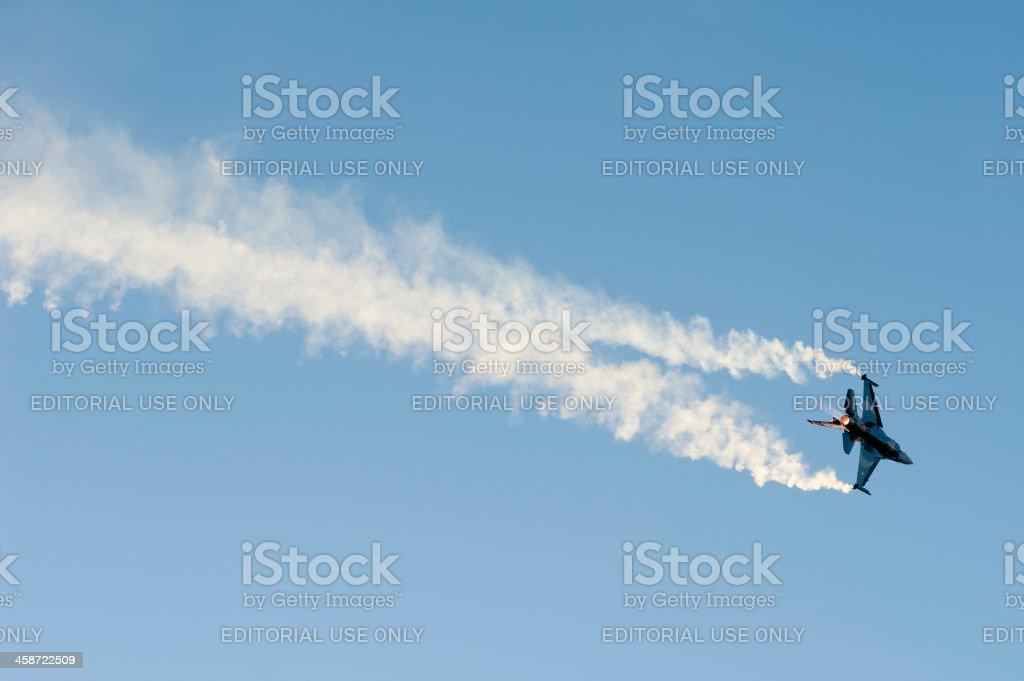 F-16 Fighter Jet Izmir, Turkey royalty-free stock photo