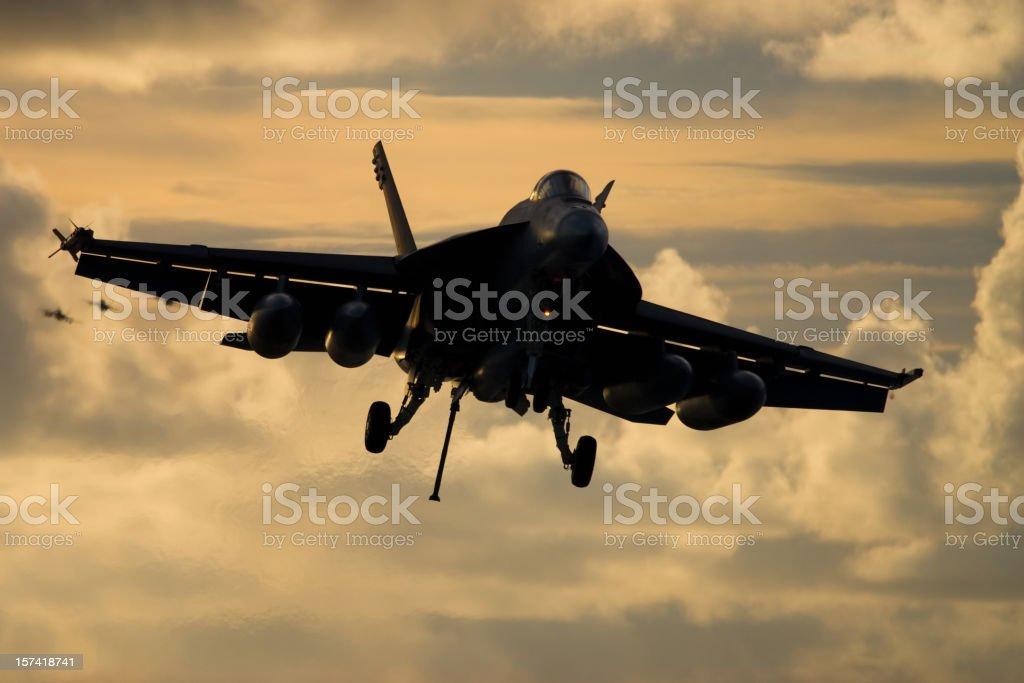 Fighter Jet Landing royalty-free stock photo