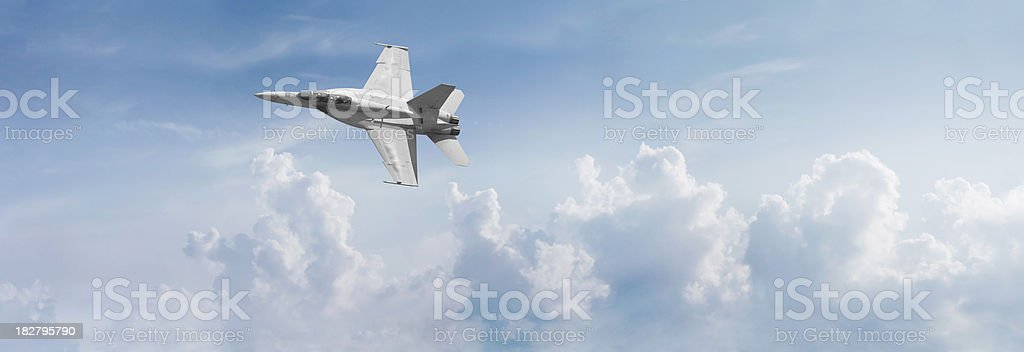 F-18 Fighter Jet Panorama royalty-free stock photo