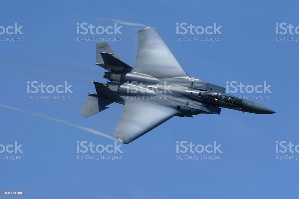 F-15 fighter jet royalty-free stock photo