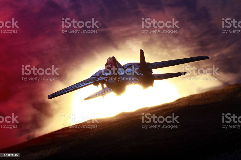 Fighter Jet Silouette royalty-free stock photo