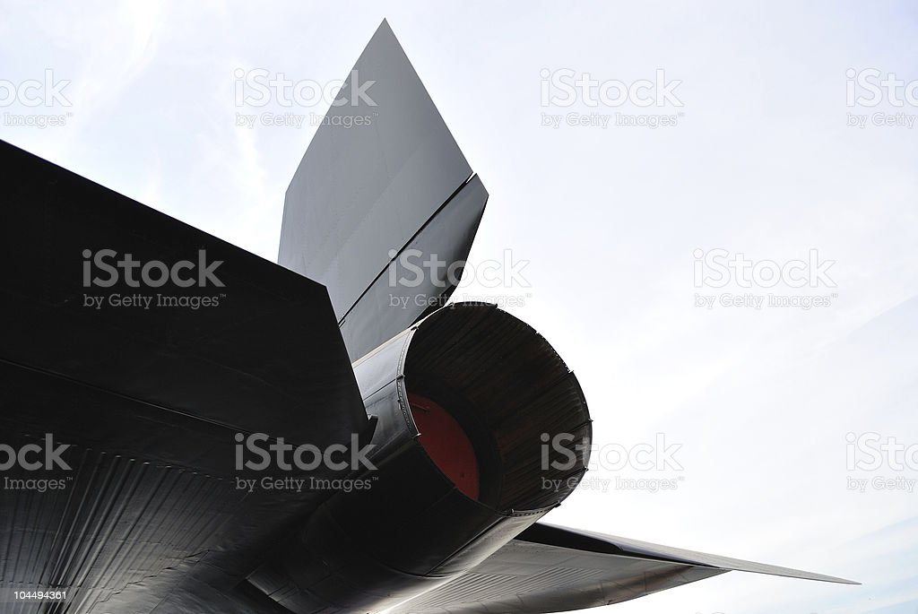 Fighter Jet Tail stock photo