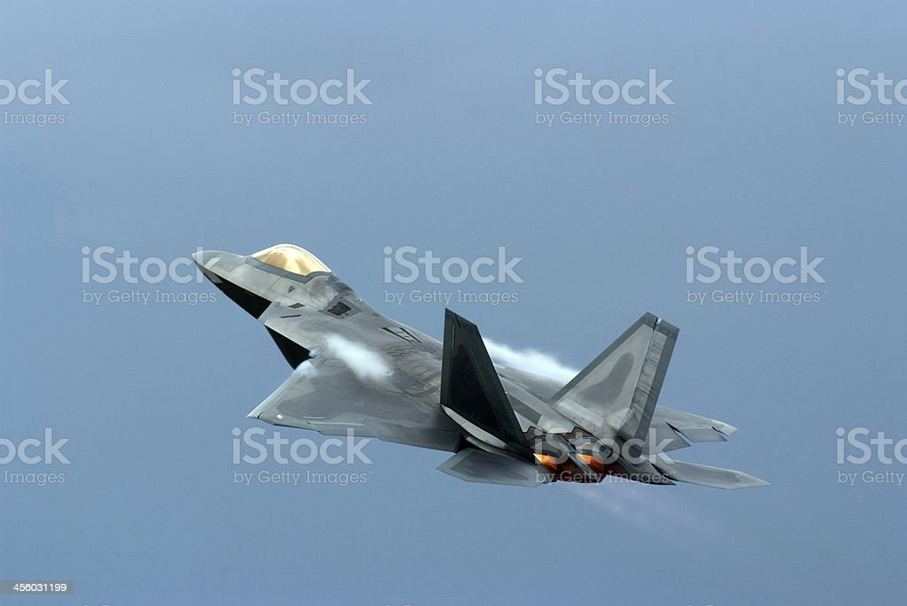 Fighter Jet, Take off, Mach 1 royalty-free stock photo