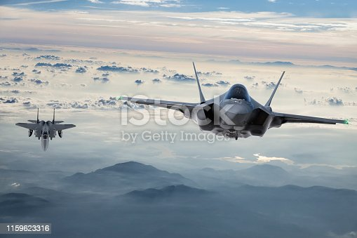 Fighter Jets flying at twilight