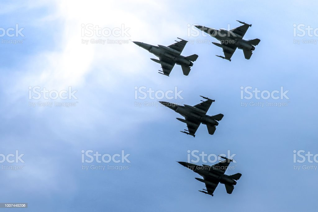 Fighter Jets in Formation stock photo